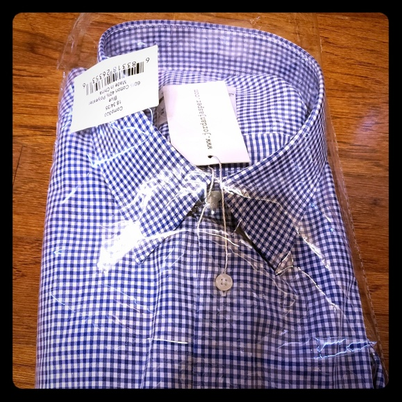 4d8f0eefd72cb7 Jordan Jasper blue and white men s dress shirt